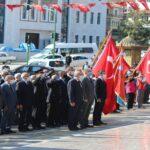 Tosya'da 29 Ekim Cumhuriyet Bayramı Kutlamaları Kapsamında Çelenk Sunma Töreni Düzenlendi